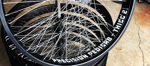 Precision Pedicab fat tire wheels