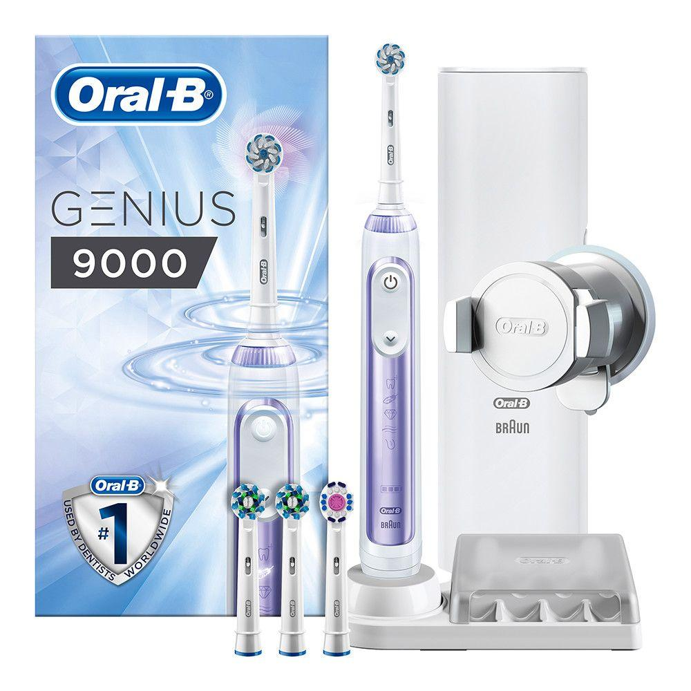 Genius 9000 Orchid Purple Electric Toothbrush Powered By Braun
