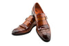 THE FRINGE WHISKEY MONK STRAP SHOES