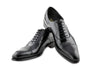 THE CLASSIC NOIR CAP TOE LACE UP SHOES