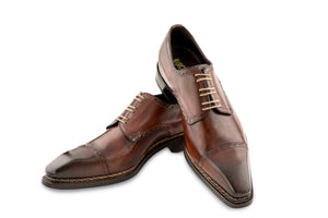 THE CHIARO CAP TOE LACE UP SHOES