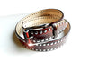 THE BURGUNDY STUDDED BELT