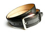 THE BLACK LEATHER PERFORATED BORDER BELT