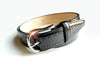BLACK LEATHER PUNCH HOLE BELT THE CLASSIC