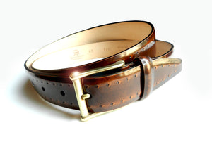 THE PERFORATED TAN BROWN BELT