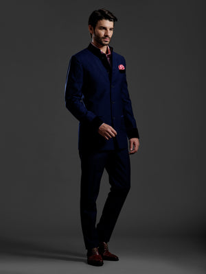 ROYAL BLUE BANDHGALA SUIT