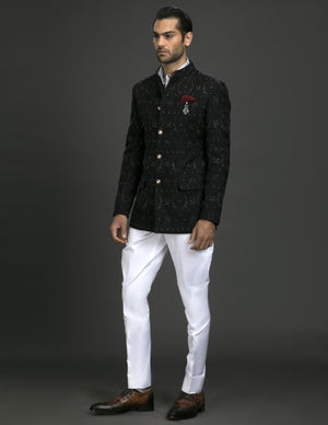 BLACK BANDHGALA JACKET