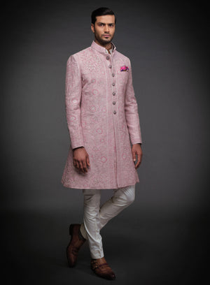PINK EMBROIDERED ACHKAN
