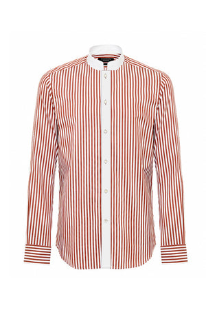 NOBLE ROUGE PINSTRIPE SHIRT