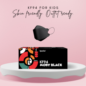 KF94 Moby™ Black for Kids | 15pcs