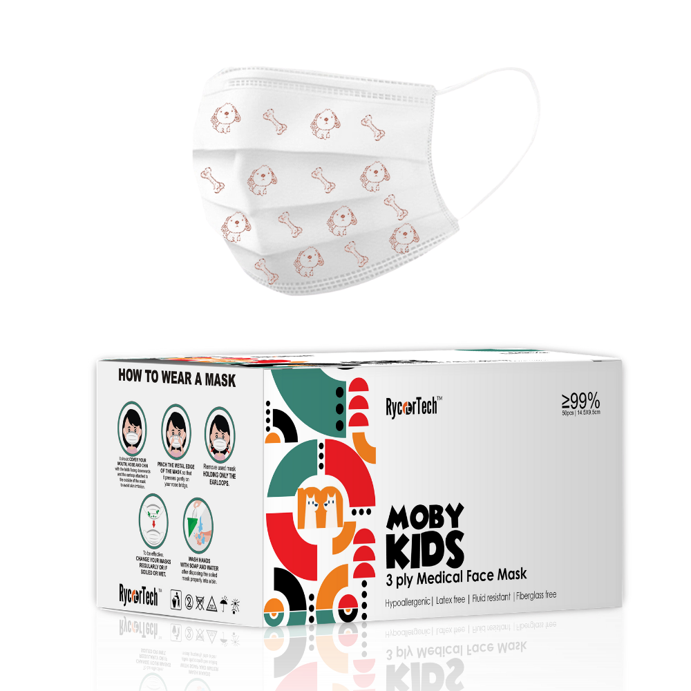 Prime Kids Moby 3ply  | 50pcs