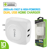 Power Adapter #7 = Dual USB Home Charger, 10 Watt / 2.1 Amp Wall Charger for Apple iPhone X, 8, 8 Plus, iPad Pro, iPad Mini 4, Samsung Galaxy Note 8, Galaxy S8, S8 Plus, etc.-Cable Sold Separately