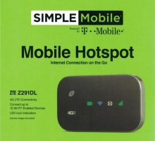 Hotspot Service #101 = Simple Hotspot $50 Plan 40GB + Sim Card + Simple Hotspot Device + New Number