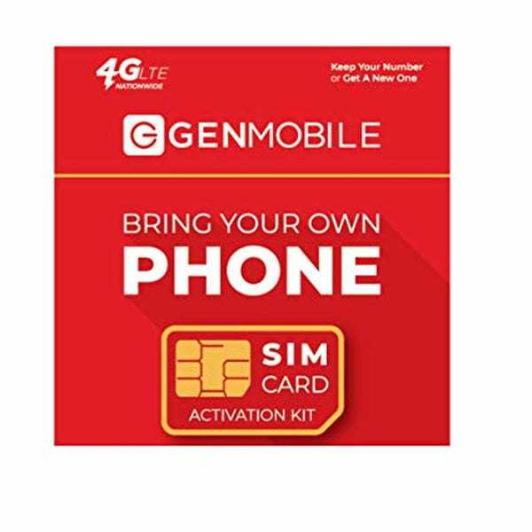 Gen Mobile $10 Unlimited Talk + Text + Sim Kit + New Number