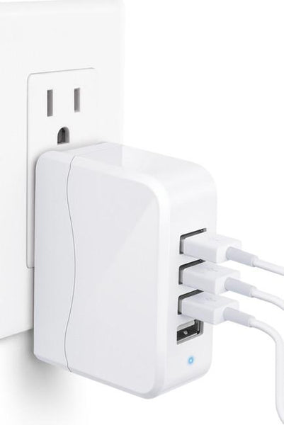 Travel Power Adapter #12 = 4 USB TRAVEL CHARGER 2 amh