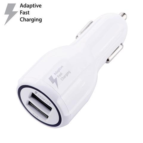 iphone car charger #23 = IPHONE 5,6,7,8,X CABLE 3FT. WHITE + FAST CAR CHARGER