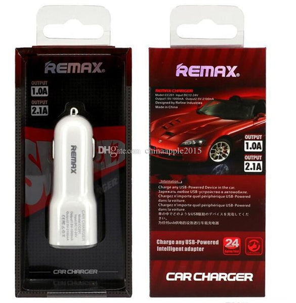 Power Adapter #2 =  Remax Car chargers Dual Usb Ports 3.1A Auto power adapter