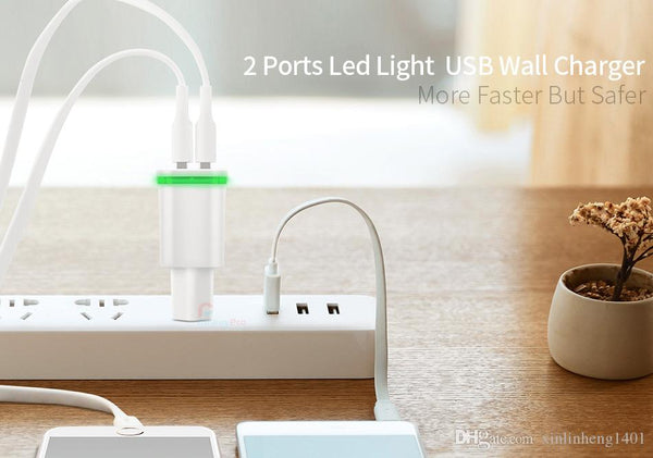 Power Adapter #4 =  2.1A dual ports dock chargers USB travel wall universal cellphone charger for all smart phone