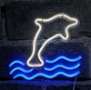 dolphin wall LED neon light sign