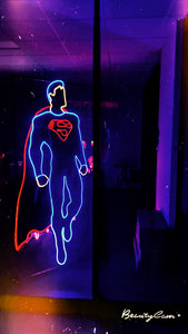 super man neon lights