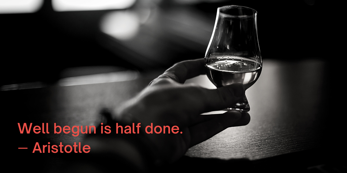 The Chapter 7 single malt scotch whisky journey is well begun, but only half done