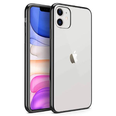 Transparent case with rubber sides (shock proof) for Apple iPhone Smartphone