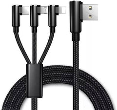 3 in 1 USB cable (USB to Micro/Type C/Lightning)
