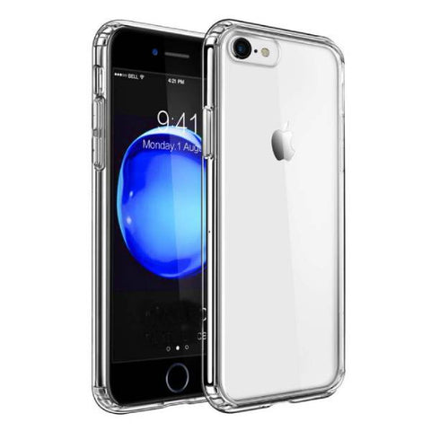 Transparent case with rubber sides for iPhone (shock proof)