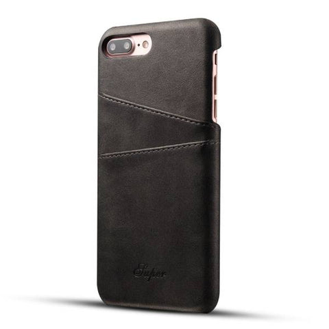 Genuine Leather Case with Card Slots for Apple iPhone Mobile
