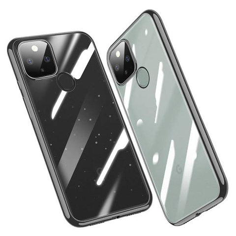 Transparent case with rubber sides (shock proof) for Google Pixel