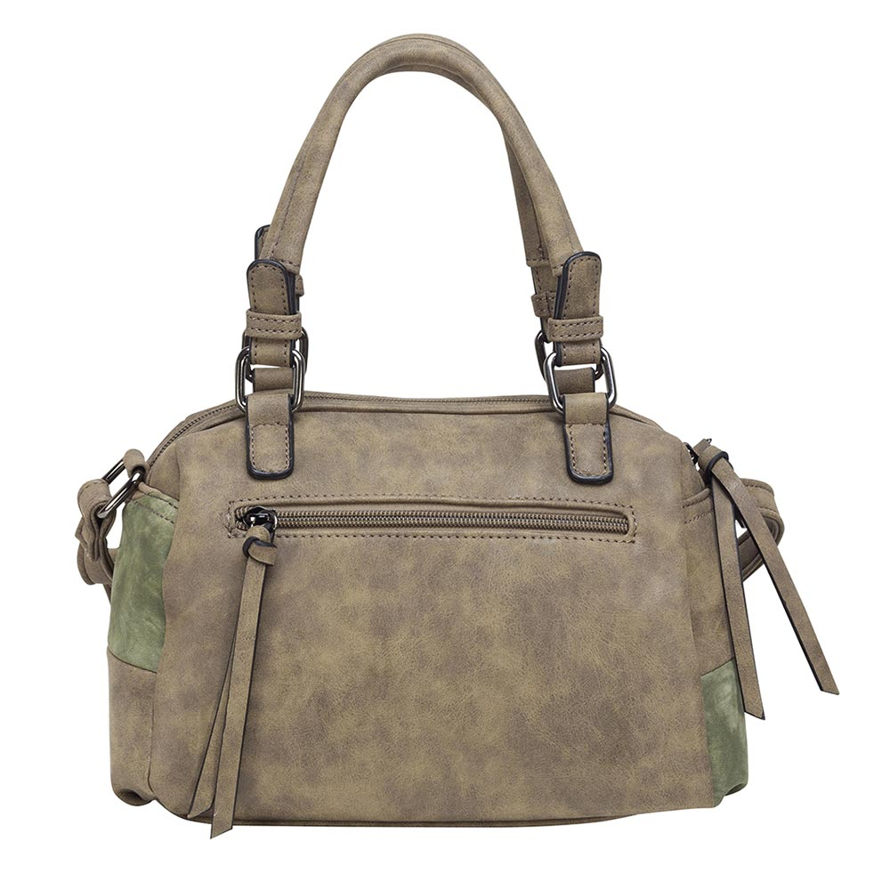 Cartera Amalfi Satchel Bag Olivo S