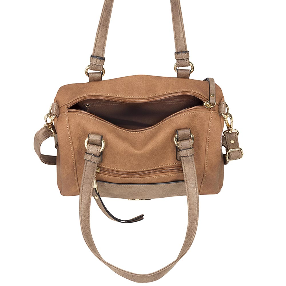 Cartera Parma Satchel Bag Café M