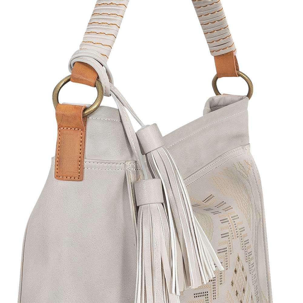 Cartera Mancora Ss20 Hobo Bag Grey L