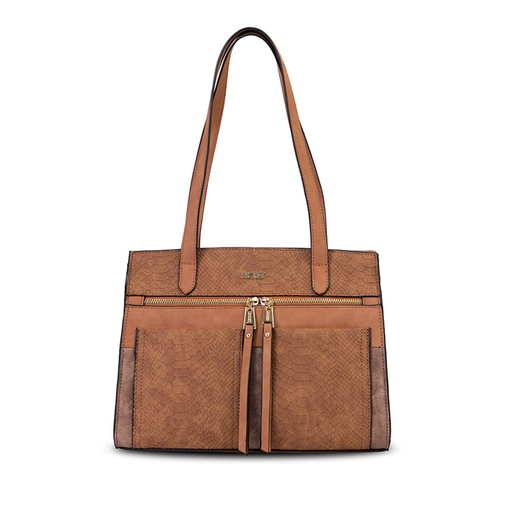 Cartera Ribe Fw20 Tote Brown L