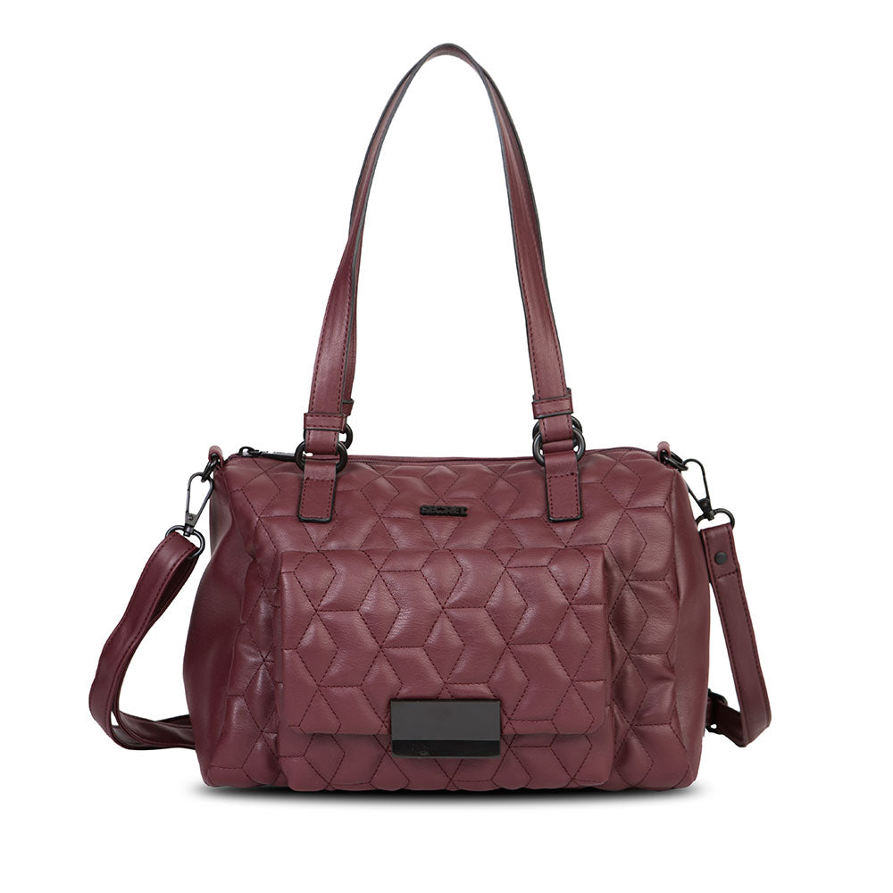 Cartera Waterford Fw20 Satchel Bag Burgundy L
