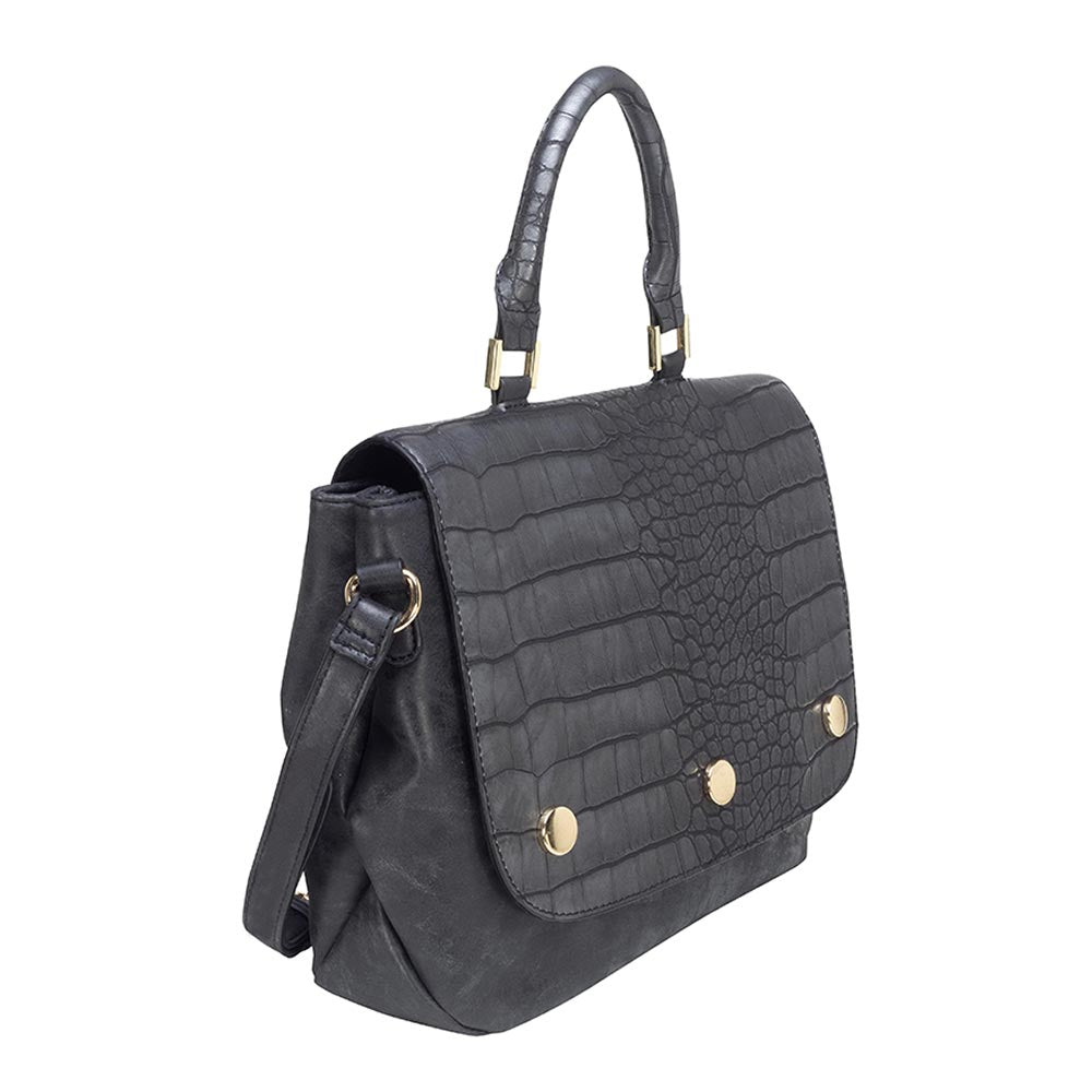 Cartera Ravello Satchel Bag Negro L