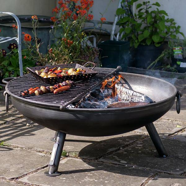 Kadai style Celeste 60 fire pit Hand made at Oak and Ash Home