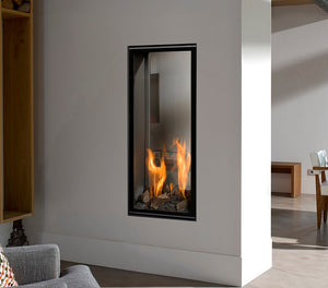BELLFIRES VERTICAL BELL MEDIUM TUNNEL GAS FIRE at Oak and Ash Home