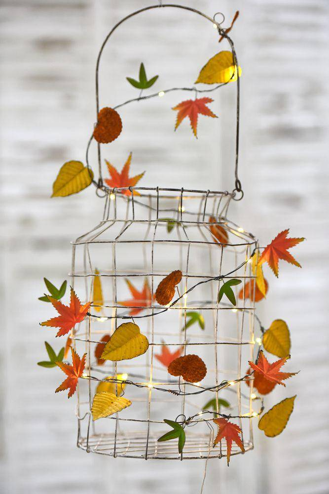 AUTUMN LEAVES LED LIGHT GARLAND at Oak and Ash Home