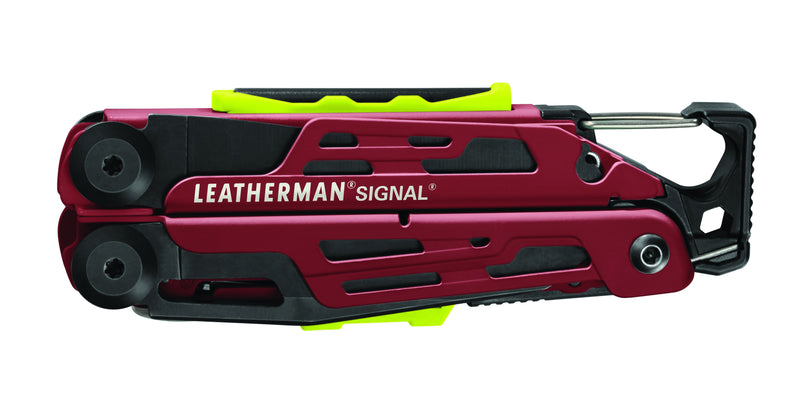 LEATHERMAN SIGNAL® MULTI-TOOL W/NYLON SHEATH - RED CERAKOTE at Oak and Ash Home