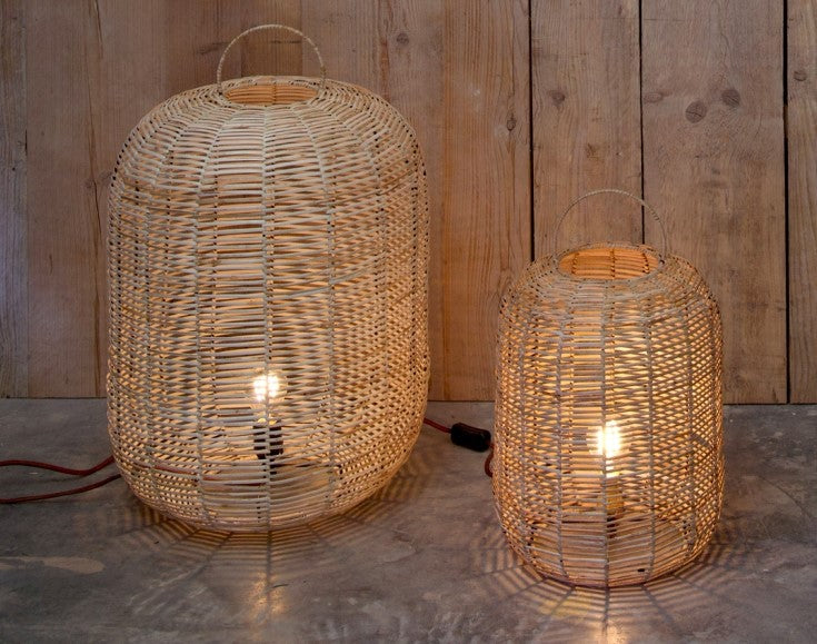 Noko Wicker Lamp - Small at Oak and Ash Home