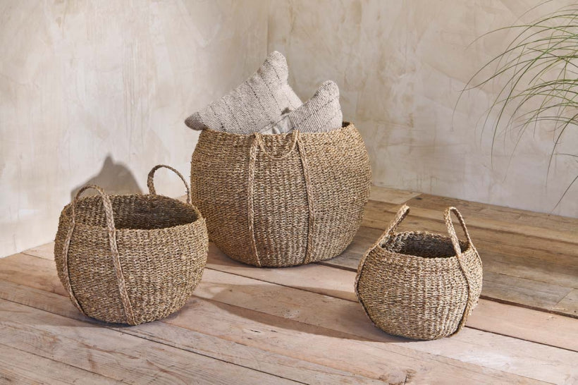 Rundi Seagrass Basket at Oak and Ash Home