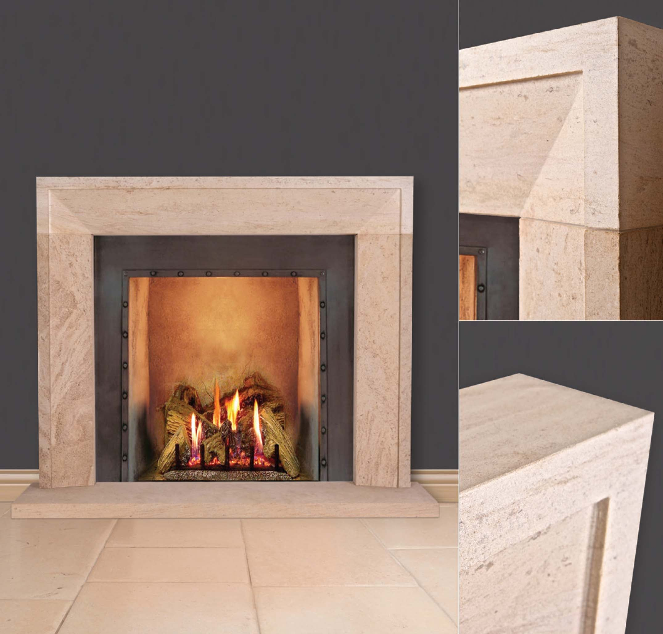 The Kimcote Limestone Fire Surround at Oak and Ash Home