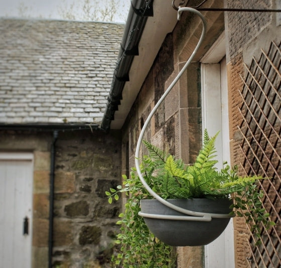 Swirl Hanging Planter with Bowl at Oak and Ash Home