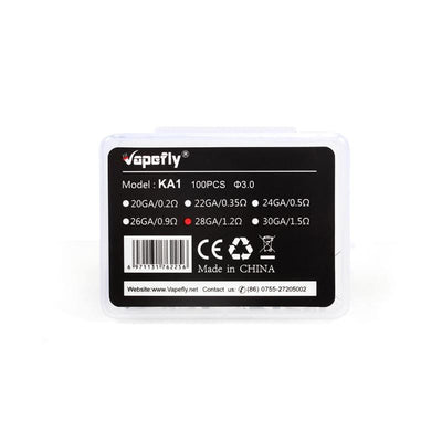 Silver Vapefly KA1 Coils for E Cigarette 100pcs 28GA