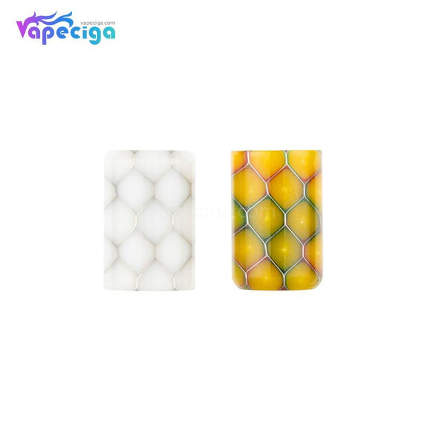 White & Yellow REEVAPE AS246S Resin Replacement Drip Tip