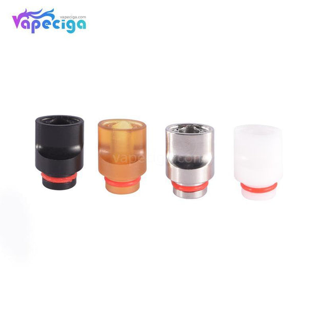 Mixed Color 510 Big Whistle Drip Tip Stainless Steel + POM + PEI 4PCs