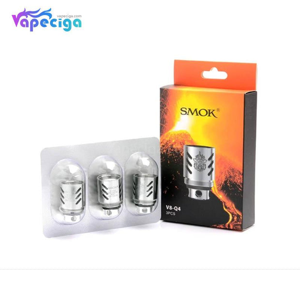 Smok V8-Q4 Replacement Coil Head 0.15ohm 3PCs Silver