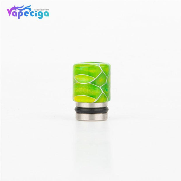 REEVAPE AS104S Straight Resin + Stainless Steel 510 Drip Tip with Single Washer - Grass Green