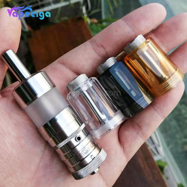 Replacement Diamond Tank Tube + Chimney for Flash e-Vapor V4.5 Style RTA Real Shots